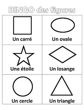 Shape BINGO in French