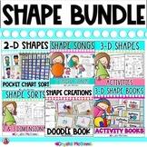 SHAPE MEGA  BUNDLE! (2 & 3 Dimensional Shapes) 10 SHAPE PACKS