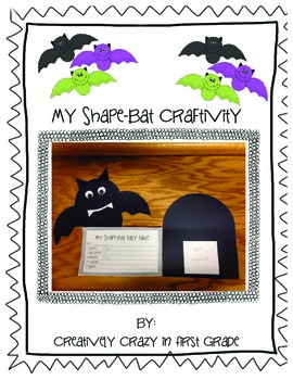 Shape Bat Craftivity with Habitat-CCSS Aligned