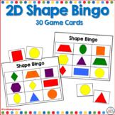 2D Shape Bingo Flat Shapes
