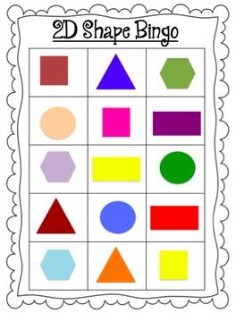 Shape Bingo -2D