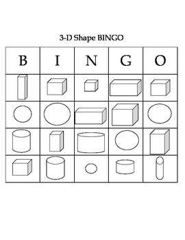 Shape Bingo (3-D Shapes)
