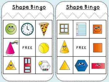 Shape Bingo (Kindergarten)