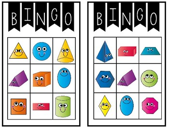 image regarding Shape Bingo Printable known as Form Bingo--A Enjoyment Match of 2D and 3D Designs for Your K-2 Cl