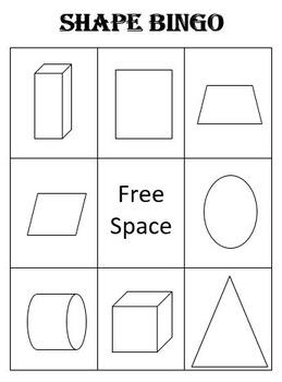 Shape Bingo Board
