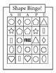 Shape Bingo Cards - Pre-K