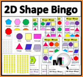 2D Shapes Bingo Game - Geometry Game - Geometry Activity