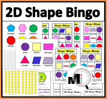 2d Shapes Bingo Game By Marcia Murphy Teachers Pay Teachers