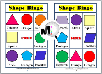 picture regarding Shape Bingo Printable known as Bingo Printable - 2D Styles Bingo Video game
