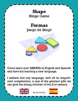 Shape - Formas BINGO ( Bilingual English & Spanish)