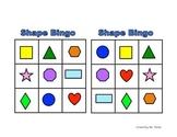 Shape Bingo (Pre-K, Kindergarten, Grade 1)