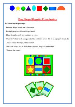 Shape Bingo for Preschoolers