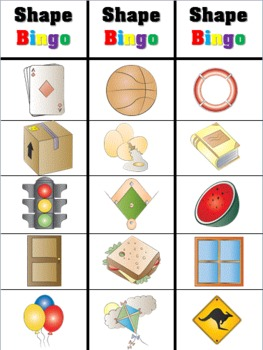 Shape Bingo for Young Learners