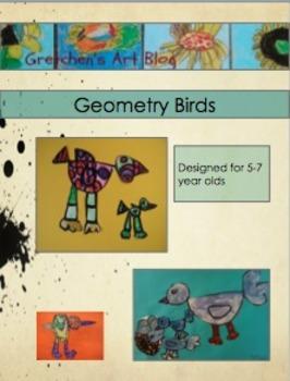 Geometric Birds Art Lesson