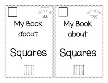 Shape Book about Squares