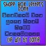 Shape Box Letters Font
