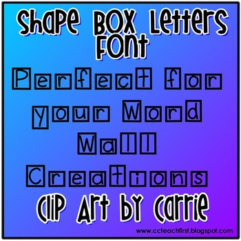 boxed letters font