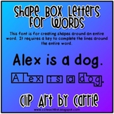 Shape Box Letters for Words Font