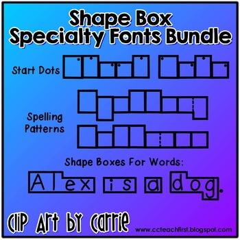 Shape Box Specialty Fonts Bundle