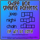 Shape Box Spelling Patterns Font
