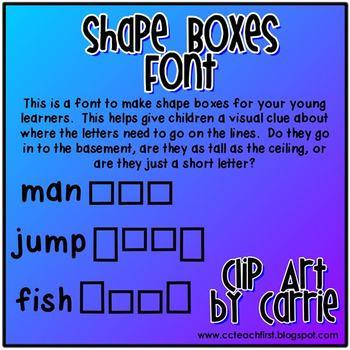 Shape Boxes Font