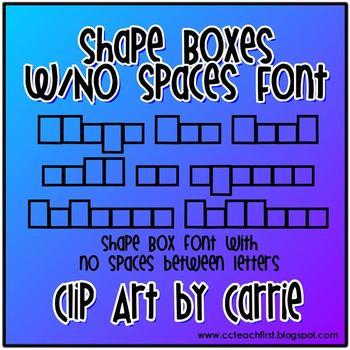 Shape Boxes (NO Spaces Between Letters) Font