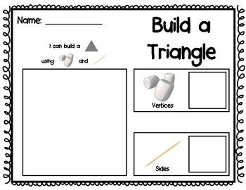Shape Building With Marshmallows and Toothpicks