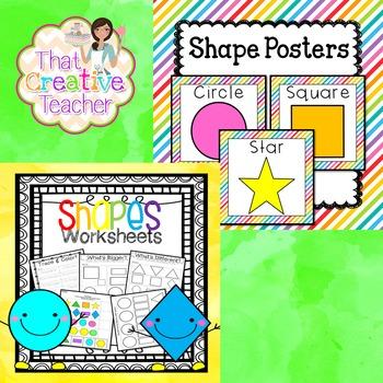 Shape Bundle - Preschool & Kindergarten Resource for Shape Recognition