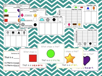 Shape Bundle - Review ppt, Posters, Flashcards, Write the Room, Tally, Graph