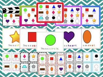 Shape Bundle - Review ppt, Posters, Flashcards, Write the