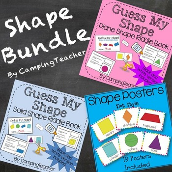 Shape Bundle Shape Posters, Plane Shapes Book, Solid Shapes Book