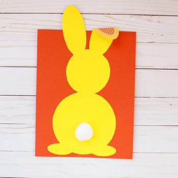 Bunny Craft  - Easter Craft - Spring Craft - Shape Craft