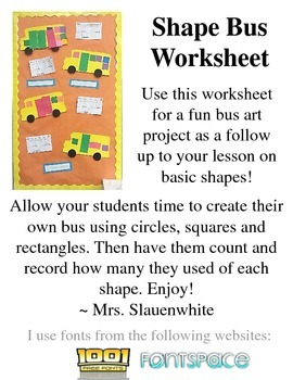 Shape Bus Worksheet