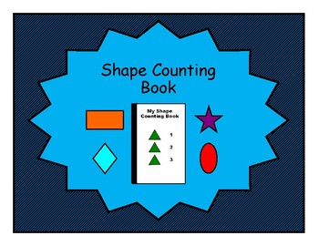Shape COUNTING Adapted Velcro BOOK, Speech Therapy, Autism, Early Childhood