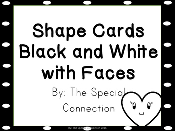 Shape Cards: Black and White Smiley Edition