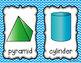 Shape Cards - Blue Chevron