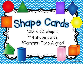 Shape Cards - Blue Chevron