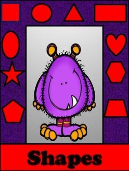 Shape Cards Bold Monster Purple