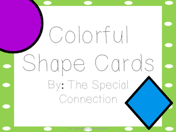 Shape Cards: Colorful Edition