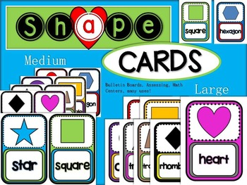 Shape Cards - Medium and Large Sets