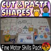 Shape Centers Activities Fine Motor Shapes Cut Paste Glue Collage Art Geometry