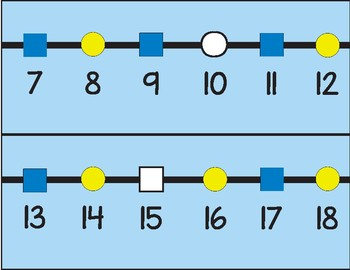 Shape Charts and Number Lines FREEBIE