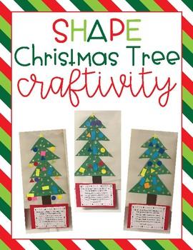 Shape Christmas Tree Craftivity