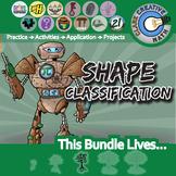 Shape Classifications -- Geometry & Pre-Algebra Curriculum -- Essential Bundle