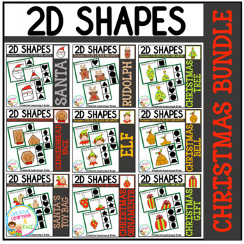 Shape Clip Card Bundle: Christmas