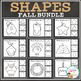 Shape Clip Card Bundle: Fall