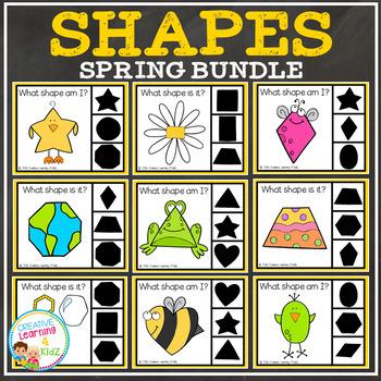 Shape Clip Card Bundle: Spring