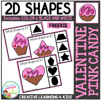 Shape Clip Cards: Valentine Pink Candy Freebie