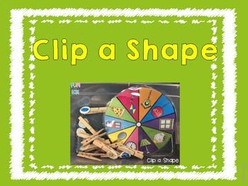 Shape Clip Card Freebie