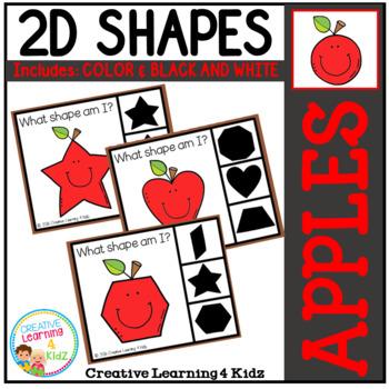 Shape Clip Cards: Apples